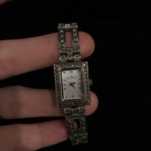 Anne Klein marcasite watch
